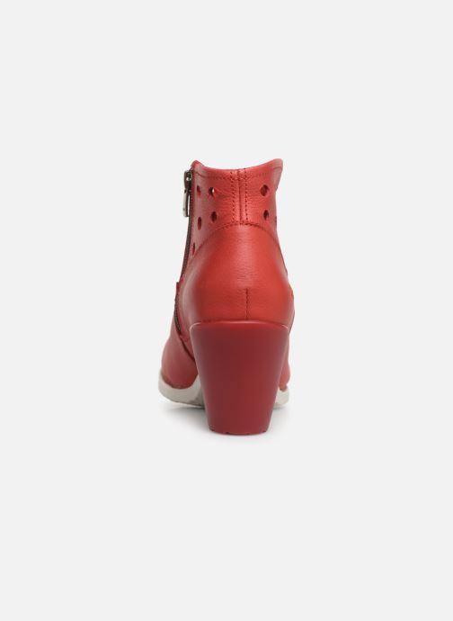 Stiefeletten & Boots Art Genova 477 rot ansicht von rechts