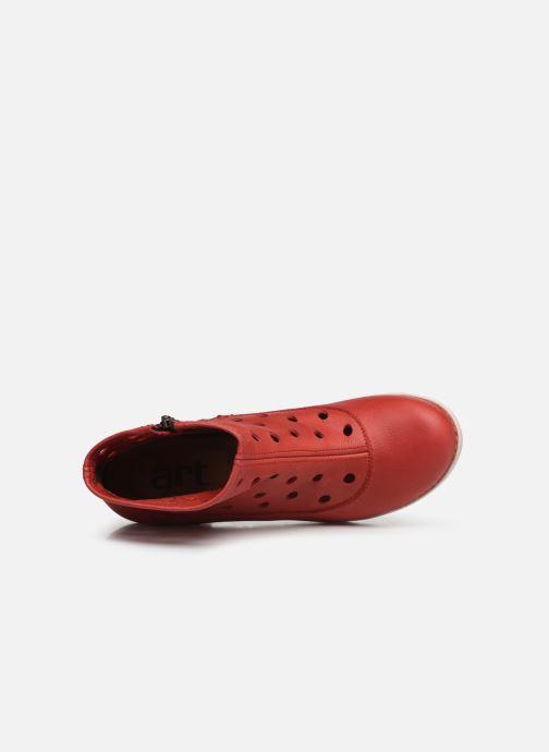 Stiefeletten & Boots Art Genova 477 rot ansicht von links