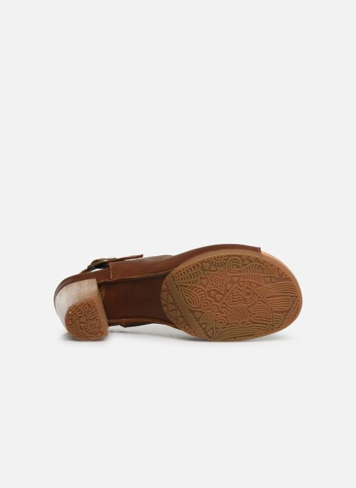 Sandales et nu-pieds El Naturalista Kuna N5022 Marron vue haut