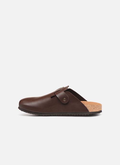 Sandals El Naturalista Waraji NE52 Brown front view