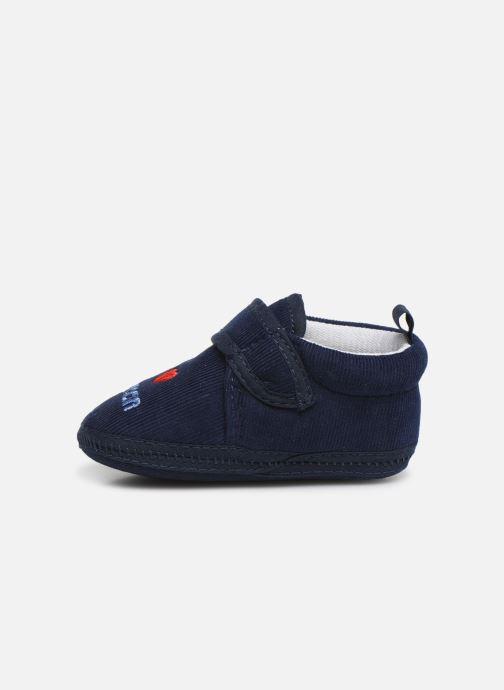 Slippers Sarenza Wear Chaussons bébé scratchs Blue front view