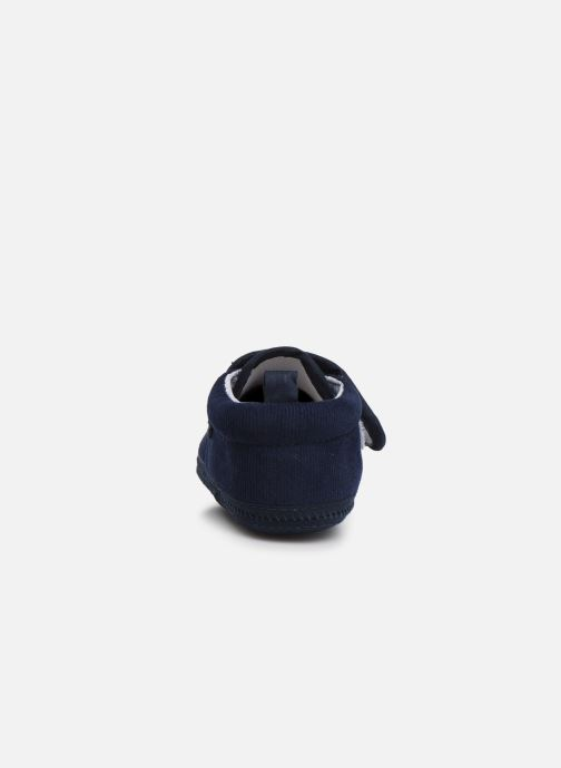 Slippers Sarenza Wear Chaussons bébé scratchs Blue view from the right