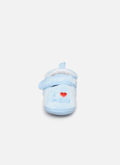 Chaussons Sarenza Wear Chaussons bébé scratchs Bleu vue portées chaussures