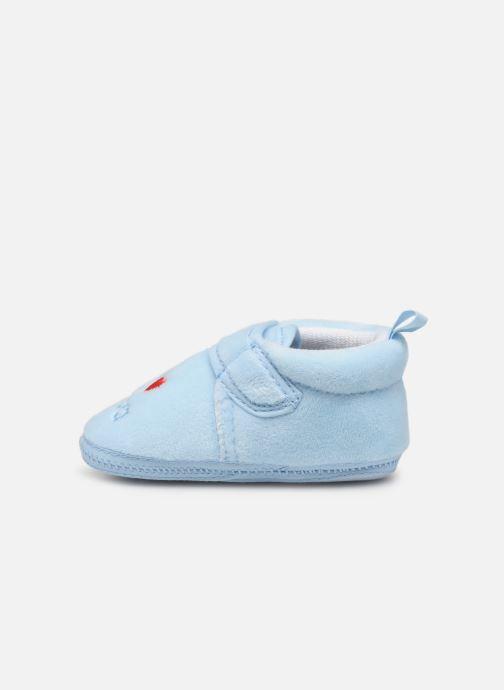 Chaussons Sarenza Wear Chaussons bébé scratchs Bleu vue face