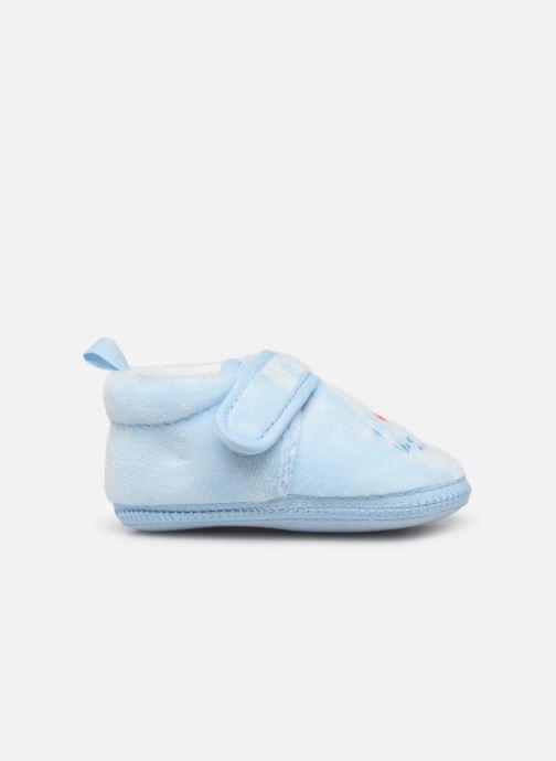 Slippers Sarenza Wear Chaussons bébé scratchs Blue back view