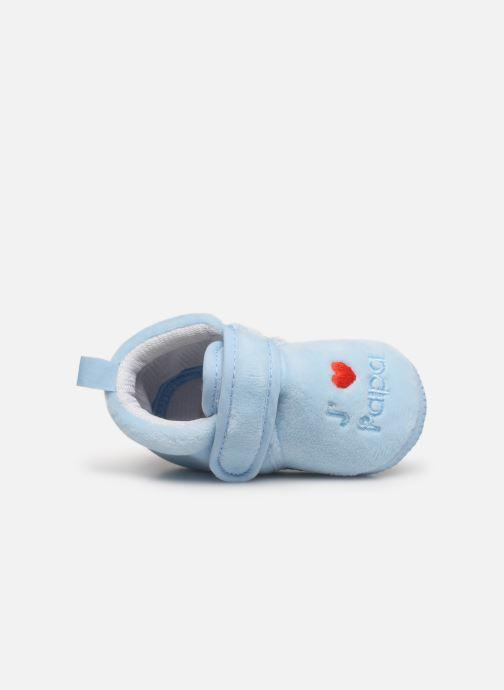 Slippers Sarenza Wear Chaussons bébé scratchs Blue view from the left
