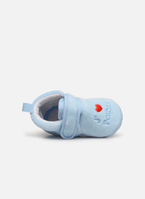 Pantuflas Sarenza Wear Chaussons bébé scratchs Azul vista lateral izquierda