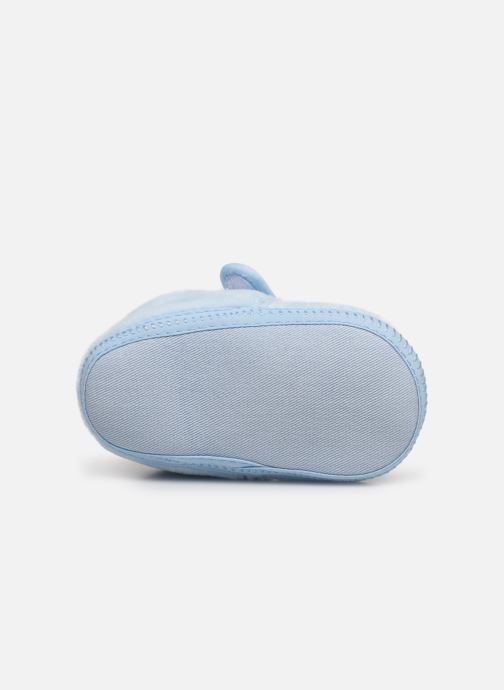 Slippers Sarenza Wear Chaussons bébé scratchs Blue view from above