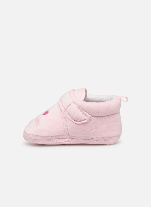 Pantoffels Sarenza Wear Chaussons bébé scratchs Roze voorkant
