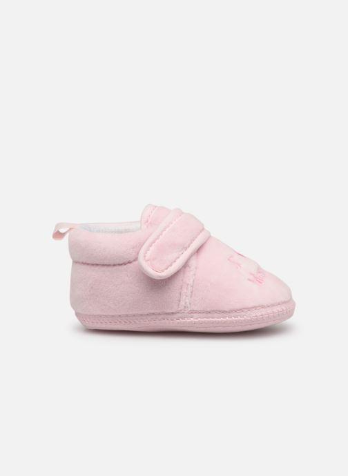 Pantofole Sarenza Wear Chaussons bébé scratchs Rosa immagine posteriore
