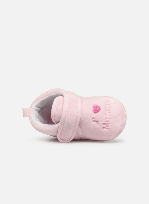 Pantofole Sarenza Wear Chaussons bébé scratchs Rosa immagine sinistra