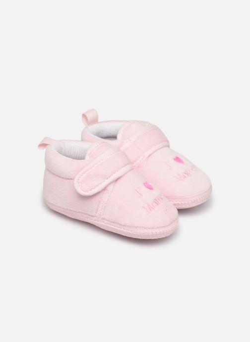 Hjemmesko Sarenza Wear Chaussons bébé scratchs Pink detaljeret billede af skoene
