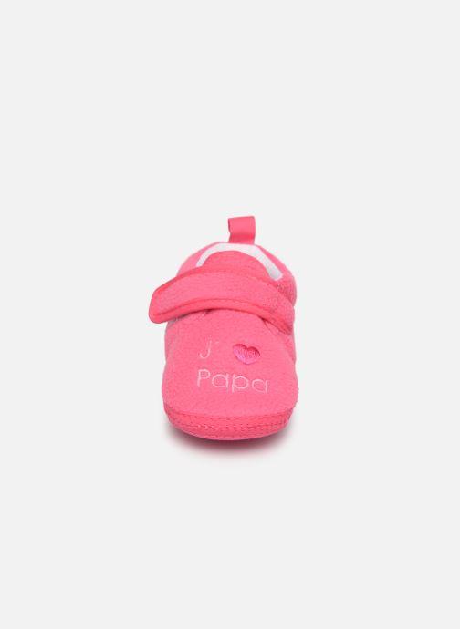 Chaussons Sarenza Wear Chaussons bébé scratchs Rose vue portées chaussures
