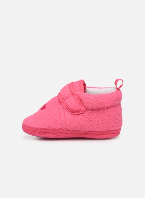 Chaussons Sarenza Wear Chaussons bébé scratchs Rose vue face
