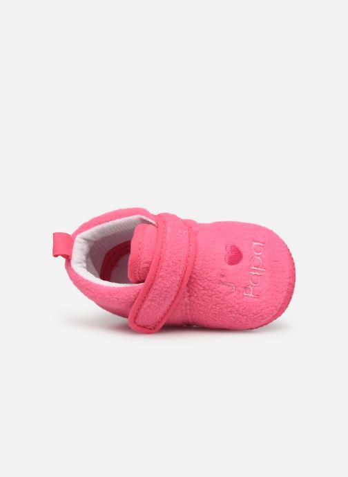 Chaussons Sarenza Wear Chaussons bébé scratchs Rose vue gauche