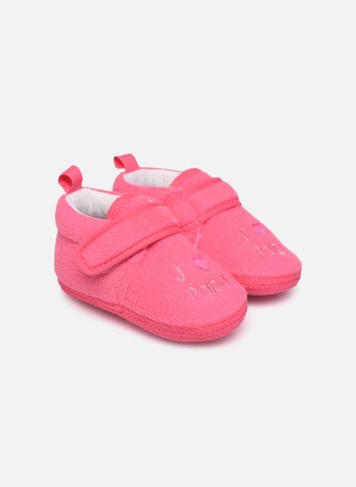 Chaussons Sarenza Wear Chaussons bébé scratchs Rose vue détail/paire