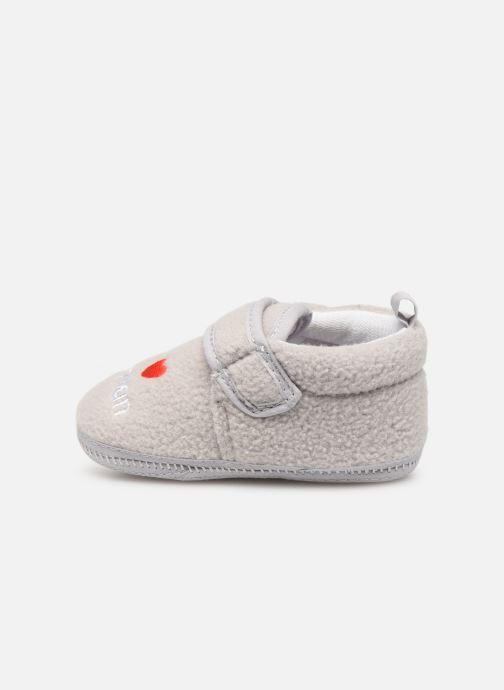 Slippers Sarenza Wear Chaussons bébé scratchs Grey front view