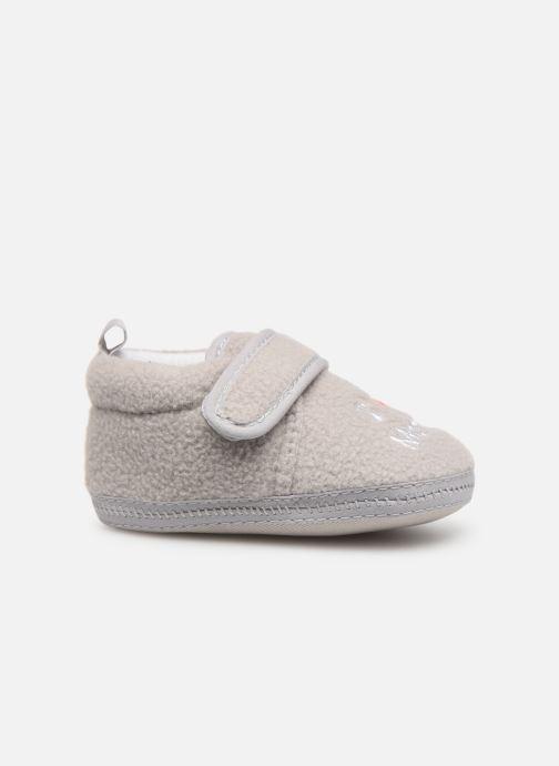Slippers Sarenza Wear Chaussons bébé scratchs Grey back view