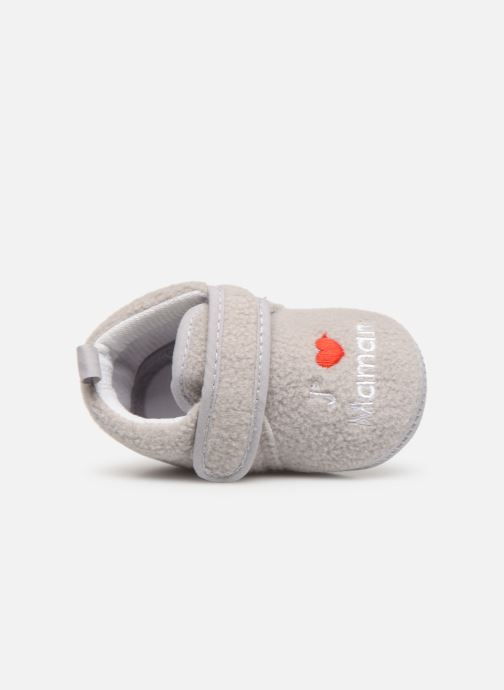Slippers Sarenza Wear Chaussons bébé scratchs Grey view from the left
