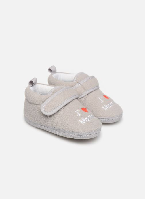 Pantofole Sarenza Wear Chaussons bébé scratchs Grigio vedi dettaglio/paio