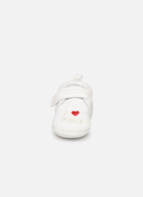 Pantoffels Sarenza Wear Chaussons bébé scratchs Wit model