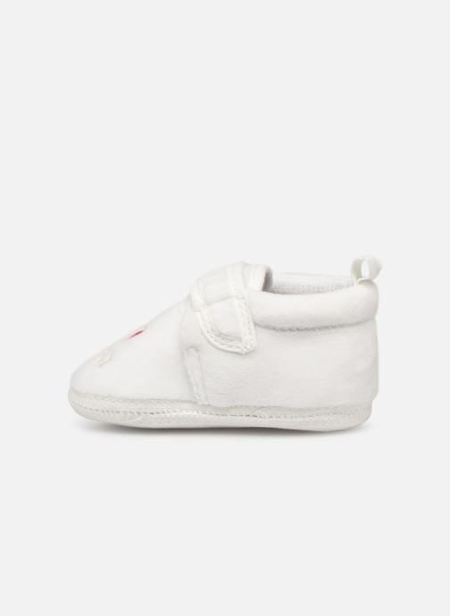 Pantoffels Sarenza Wear Chaussons bébé scratchs Wit voorkant