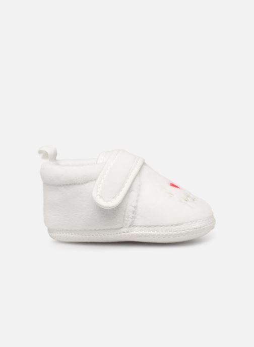 Pantoffels Sarenza Wear Chaussons bébé scratchs Wit achterkant