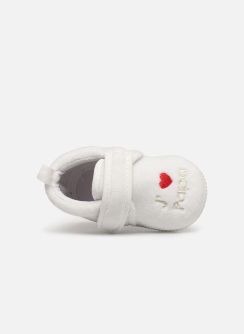Pantoffels Sarenza Wear Chaussons bébé scratchs Wit links