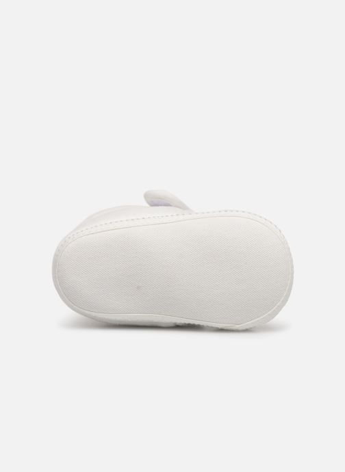 Pantoffels Sarenza Wear Chaussons bébé scratchs Wit boven