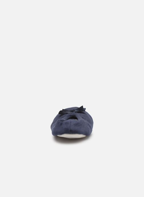 Slippers Sarenza Wear Chaussons fille balerines Blue view from the right