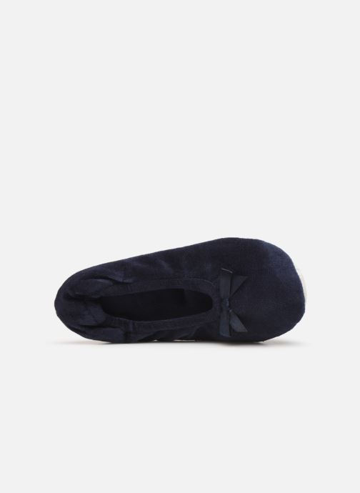 Slippers Sarenza Wear Chaussons fille balerines Blue view from the left