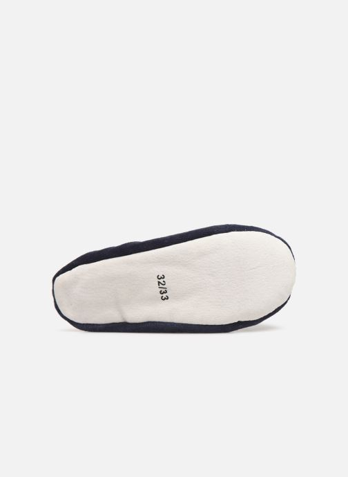 Slippers Sarenza Wear Chaussons fille balerines Blue view from above