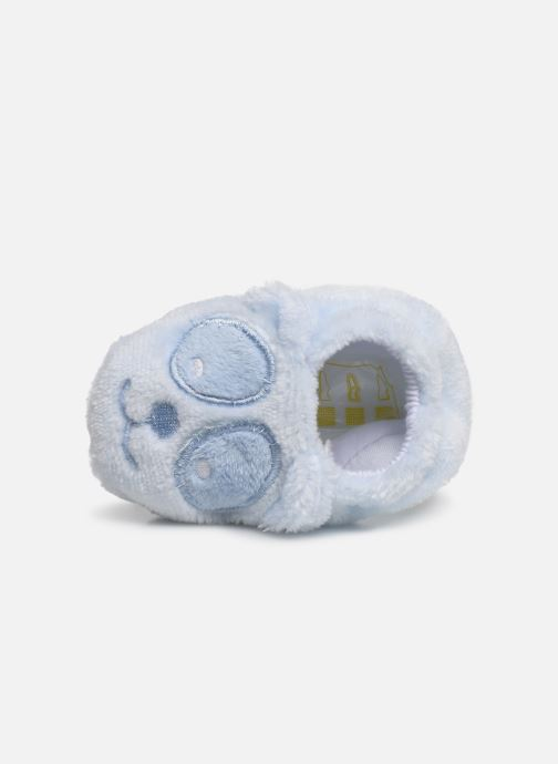 Slippers Sarenza Wear Chaussons bébé animal Blue view from the left