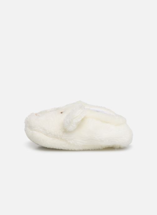 Slippers Sarenza Wear Chaussons bébé animal White front view
