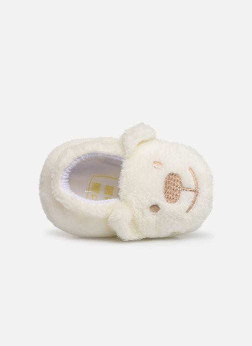 Slippers Sarenza Wear Chaussons bébé animal White view from the left