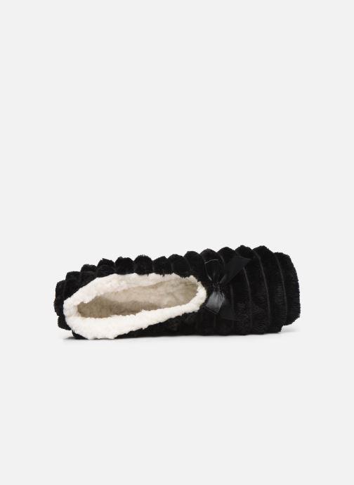 Slippers Sarenza Wear Chaussons fourrés femme Black view from the left