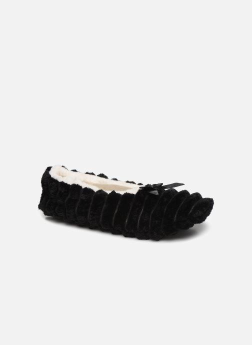 Slippers Sarenza Wear Chaussons fourrés femme Black detailed view/ Pair view