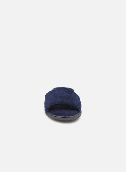 Chaussons Sarenza Wear Mules cocooning femme Bleu vue portées chaussures