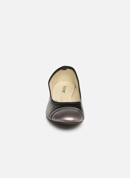 Ballerines Isotoner Escarpin sans nœud Noir vue portées chaussures
