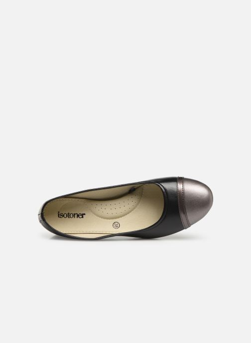 Ballet pumps Isotoner Escarpin sans nœud Black view from the left