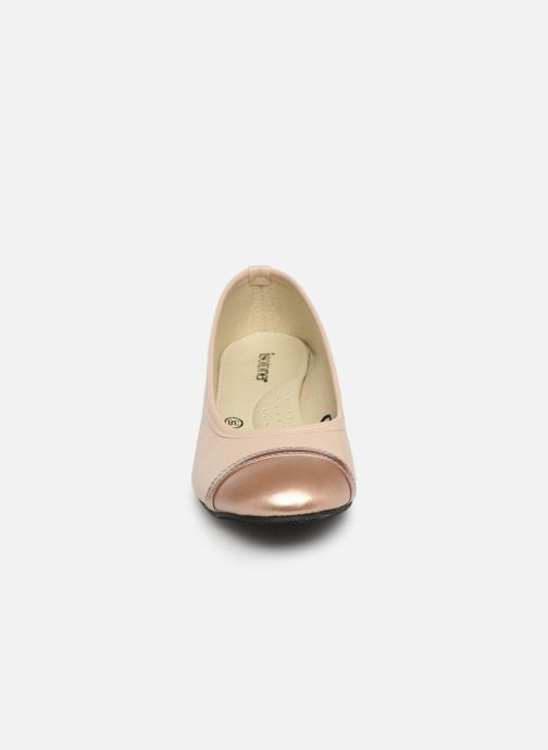Ballerines Isotoner Escarpin sans nœud Rose vue portées chaussures