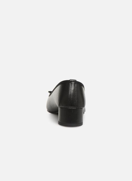 Ballerines Isotoner Escarpin bicolore Noir vue droite