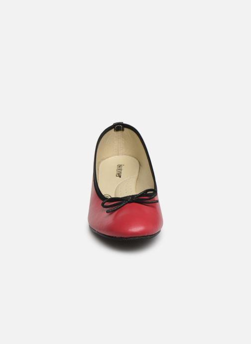 Ballerines Isotoner Escarpin bicolore Rose vue portées chaussures