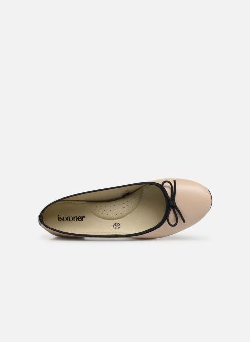 Isotoner 373086 Ballerinas Bicolore Escarpin beige rxqXYwqvI