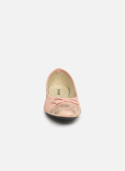 Ballerines Isotoner Ballerine irisée Rose vue portées chaussures