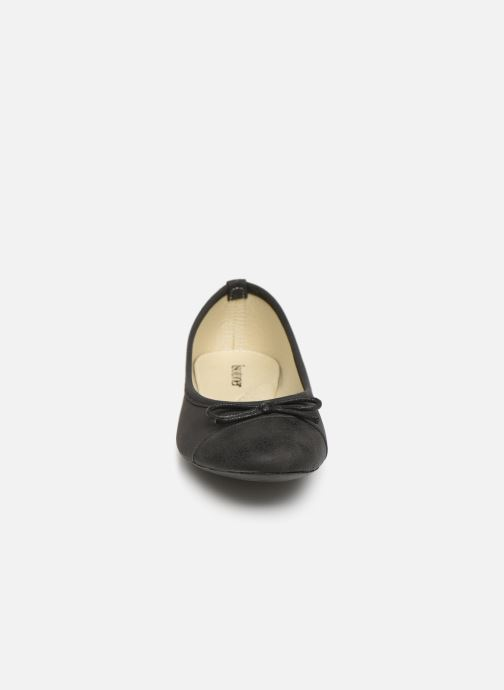 Ballerines Isotoner Ballerine irisée Noir vue portées chaussures