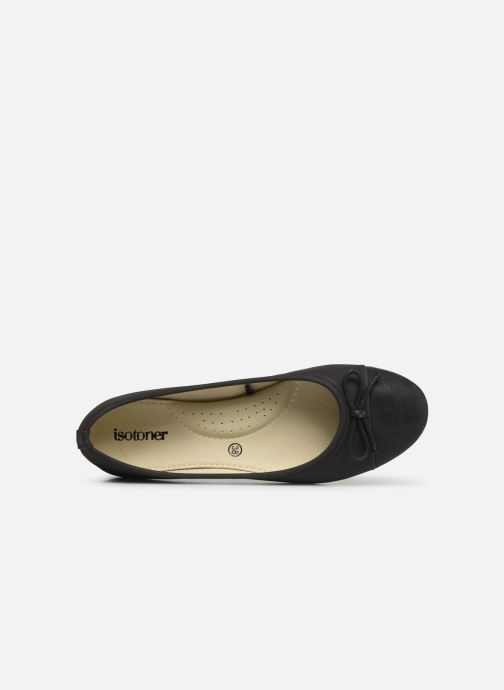 Ballet pumps Isotoner Ballerine irisée Black view from the left