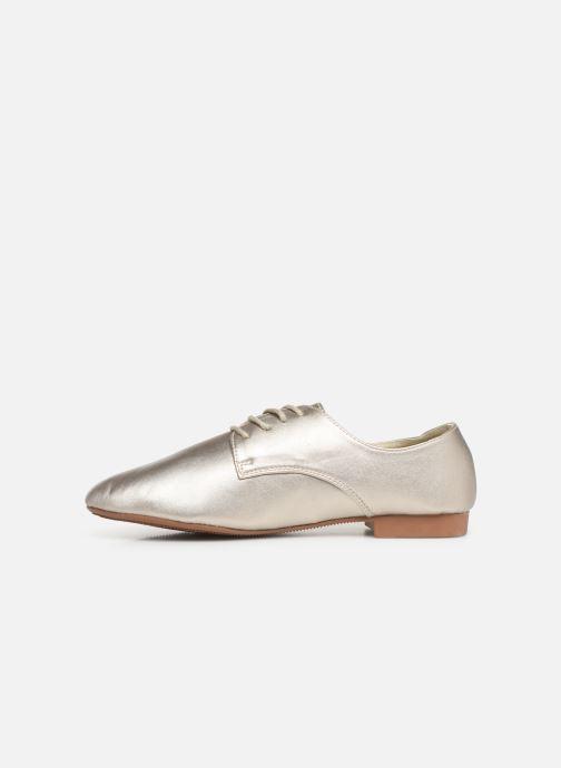 Chaussures à lacets Isotoner Derby Or et bronze vue face