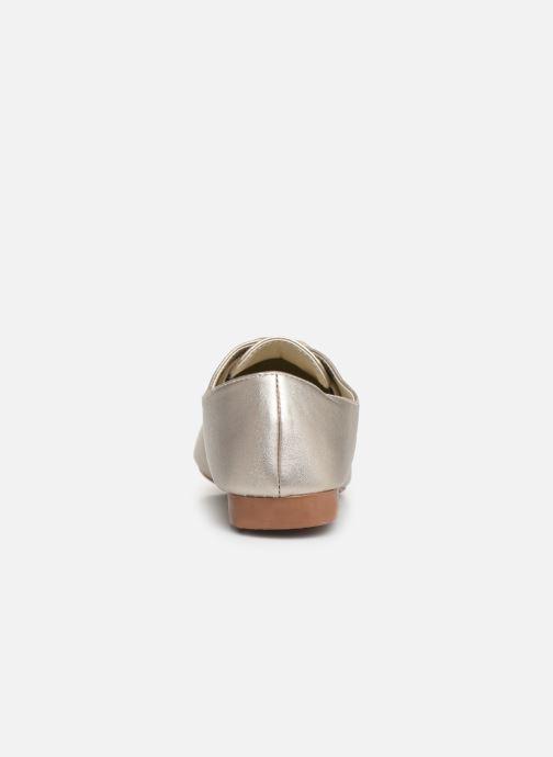 Chaussures à lacets Isotoner Derby Or et bronze vue droite