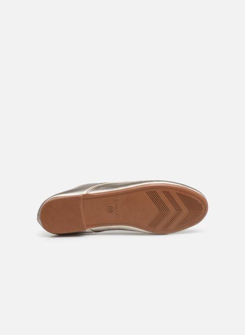Chaussures à lacets Isotoner Derby Or et bronze vue haut